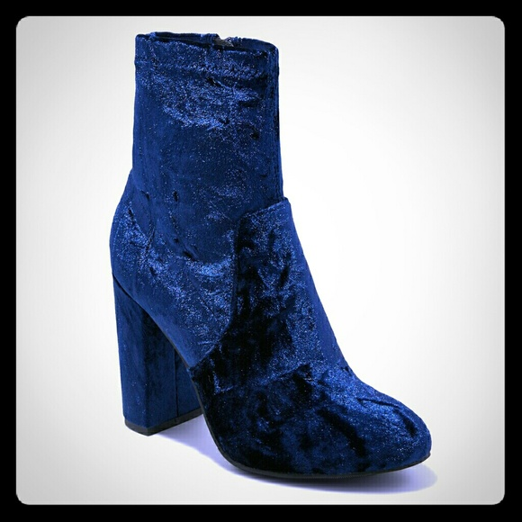 mossimo supply co shoes | dania blue crushed velvet sock booties ...